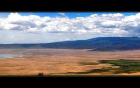 Utsikt över Ngorongoro Crater